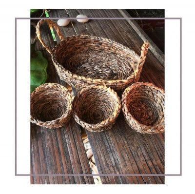 Banana fiber planter Set Style 8(#2177)-gallery-0