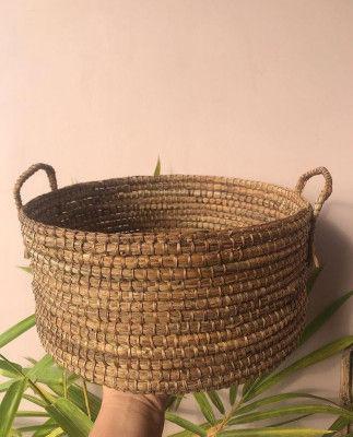Banana Fiber Basket Style 12(#2181)-gallery-0