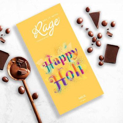 Rage Holi Special Milk Chocolate Bar 90 gm(#2199)-gallery-0