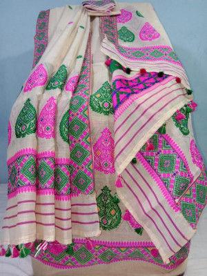 Khadi Cotton Mekhela Chador D11(#2205)-gallery-0