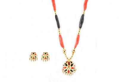 Jaapi Designer Jewellery Set from Assam(#221)-gallery-0