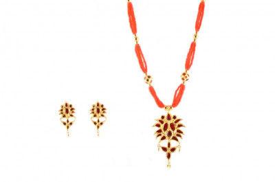 Jethipata Assamese Jewellery Set(#223)-gallery-0