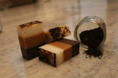 Coffee Scrub Shea Butter Soap(#2280)-gallery-0