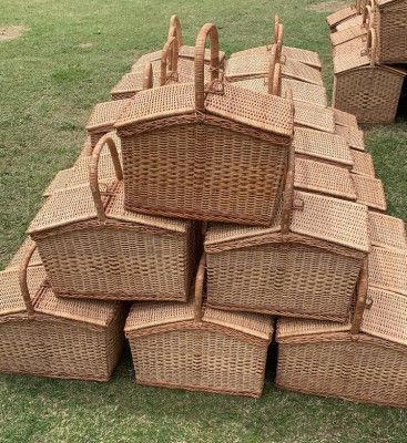 Wicker Picnic Basket(#2297)-gallery-0