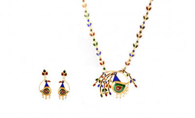 Designer Assamese Traditional Jewellery Mayur Dhanpata Haar for Women(#232)-gallery-0