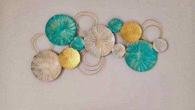 Wall Decor Iron Crafts - Three Shaded Flowers(#2333)-gallery-0