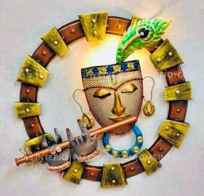 Lord Shri Krishna - Wall Decor Iron Crafts(#2334)-gallery-0