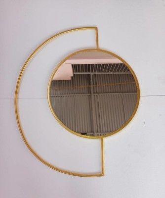 Wall Decor Iron Crafts - Half Round Mirror(#2354)-gallery-0
