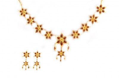 Elegant Xewali Phool Haar Jewellery Set(#236)-gallery-0