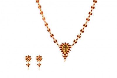 Vivid Design of Jethipata Dhanpat Haar(Assamese Traditional Jewellery) from Assam(#237)-gallery-0