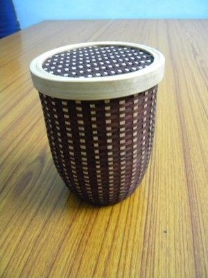 Bamboo Capsule Container - Brown(#2378)-gallery-0