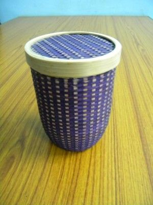 Bamboo Capsule Container - Violet(#2380)-gallery-0