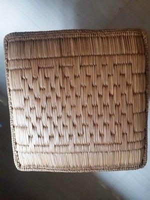 Straw Cushion Meditation Cushion Pattern 2(#2398)-gallery-0
