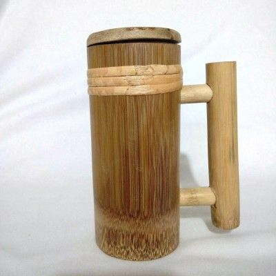 Bamboo Container with lid(#2403)-gallery-0