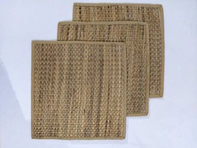 Natural Straw Dinning Mat Square ( Set of 6)(#2412)-gallery-0