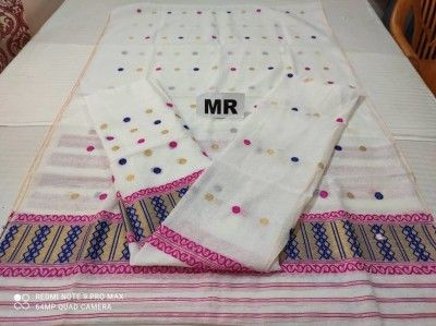 Assamese Mekhela Chadar Nuni Cotton MN29 Style 11(#2432)-gallery-0