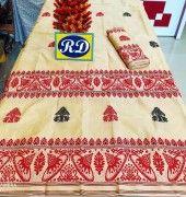Assamese Mekhela Chadar Mix toss Riha Jura Style 15(#2443) - Getkraft.com
