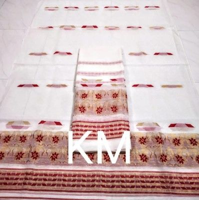 AC Cotton Assamese Mekhela Chador Style ASC 4(#2586)-gallery-0