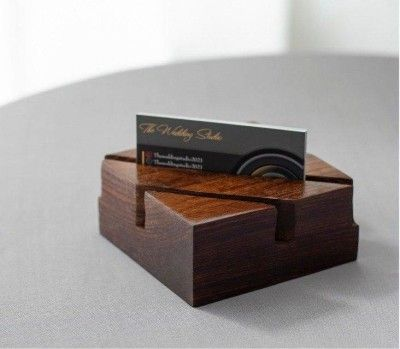 Sahaj Sheesham Wood Visiting Card Holder(#2641)-gallery-0