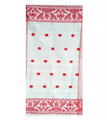 Assamese Gamosa with imprinted Flowers(#304)-gallery-0