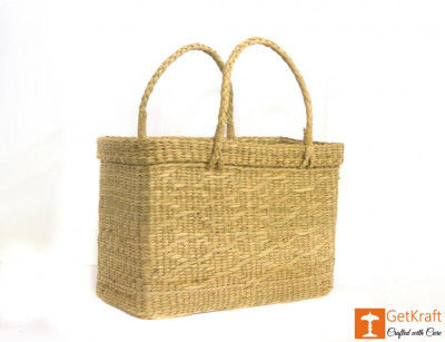 Natural Straw Beach Bag(#384)-gallery-0