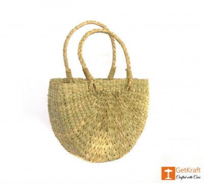 Natural Straw U- Bag Small(#388)-gallery-0
