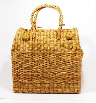 Natural Straw Grass Handmade Picnic Basket(#397)-gallery-0