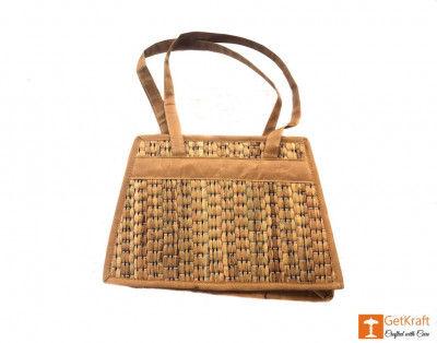 Natural Straw Square Handbag(#399)-gallery-0