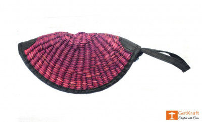 Natural Straw Hand Purse(#405)-gallery-0