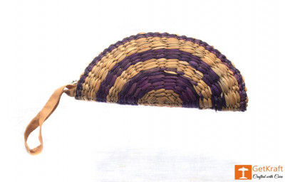 Natural Straw Handmade Hand Clutch (Small)(#412)-gallery-0