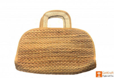 Natural Straw Handmade Bowler Bag(#413)-gallery-0