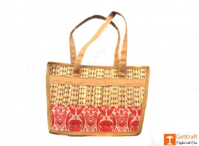 Natural Straw Square Shape Hand Bag(#419)-gallery-0