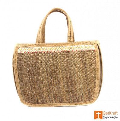 Natural Straw Designer Hobo Bag(#424)-gallery-0
