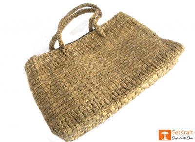 Medium-sized Bowler Natural Straw Bag(#428)-gallery-0