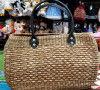 Natural Straw Handmade Oval shaped bag(#437)-thumb-0