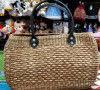 Natural Straw Handmade Oval shaped bag(#437) - Getkraft.com
