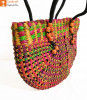 Natural Straw Handmade Multi-coloured Bag(#438)-thumb-1
