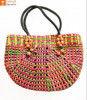 Natural Straw Handmade Multi-coloured Bag(#438) - Getkraft.com