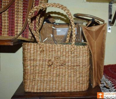 Water Hyacinth Mini Rectangle Handbag(#439)-gallery-0