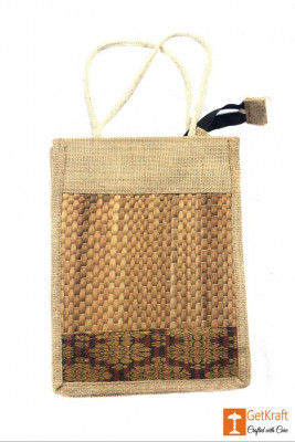 Jute- Natural Straw Unisex(Natural jute and water hyacinth Color with Maroon)(#443)-gallery-0