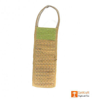 Jute Natural Straw Bottle Bag(#454)-gallery-0