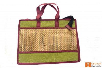 Jute Natural Straw Hand bag(#455)-gallery-0