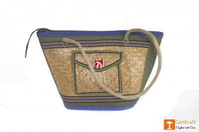Sitalpati Handmade Bag with various coloured designs(#484)-gallery-0