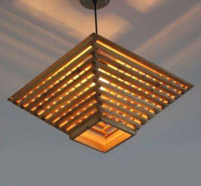 Attractive Bamboo Roof Hanging Lamp(#508)-gallery-0