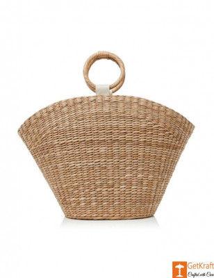 Large Natural Straw Shopping Handbag(#527)-gallery-0