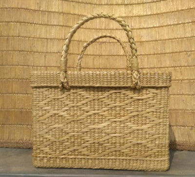 Large Natural Straw Shopping Bag(#530)-gallery-0