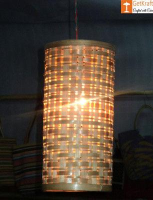 Bamboo Hanging Lampshade - Natural Bamboo color(#547)-gallery-0