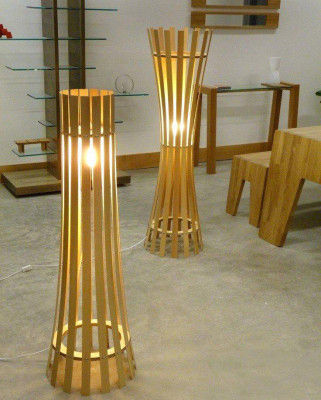 Cylindrical Bamboo Lamp for Home Office Use(#553)-gallery-0