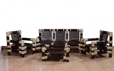 Stylish Bamboo Sofa Set with Table for Living room(#555)-gallery-0