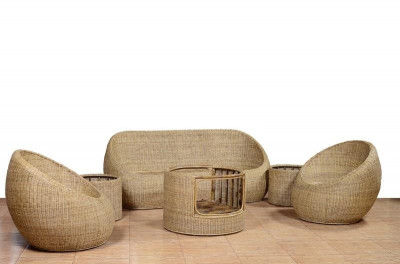Sofa Set made from Cane Trendy for Home Office(#564)-gallery-0